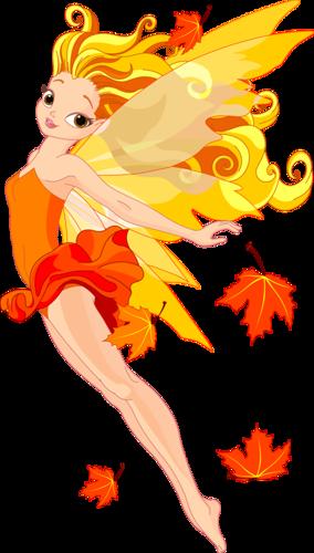 Fée des feuilles d'automne
