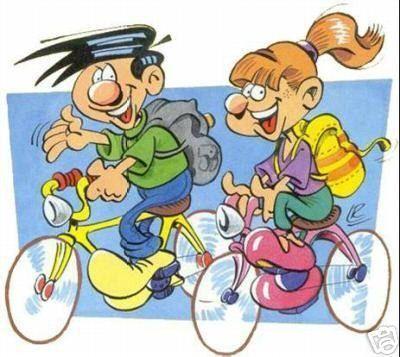 Randonnee en velo - Dessin cycliste humoristique ...