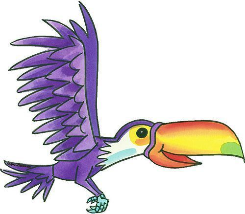 Cartoon parrot flying - photo#22